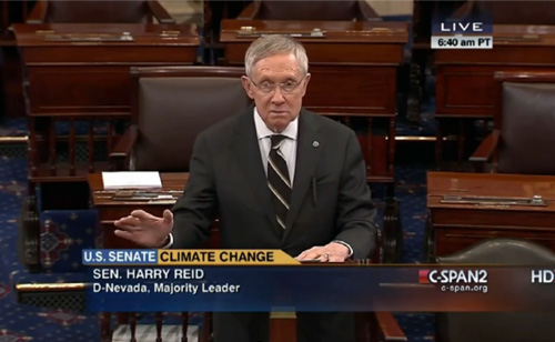 Watch Harry Reid Call Koch Brothers 'One Of The Main Causes' Of Climate Change