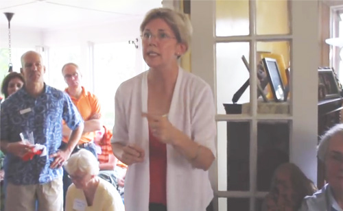 There's Nobody In This Country Who Got Rich On Their Own – Elizabeth Warren, 2011 Campaign Trail (VIDEO)