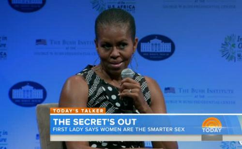 Michelle Obama: Women Are Smarter Than Men – VIDEO