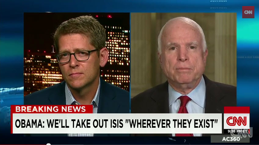 John McCain And Jay Carney In Heavyweight Showdown About ISIS (VIDEO)