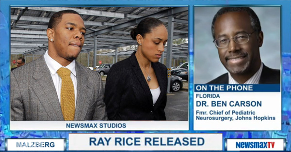 Tea Party Prop Dr. Ben Carson Defends Ray Rice – VIDEO