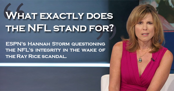 ESPN's Hannah Storm Slams The NFL For Mishandling The Ray Rice Incident  – VIDEO
