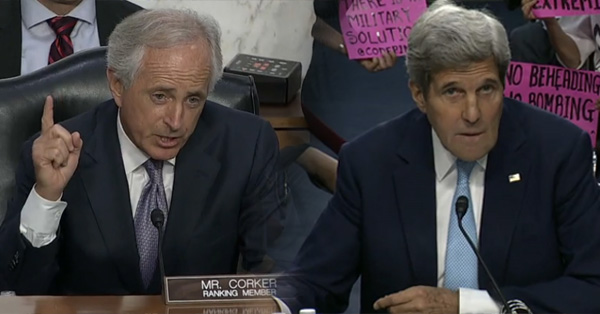 John Kerry And Senator Corker Have Heated Exchange at ISIS Hearing – VIDEO