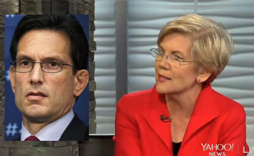 Elizabeth Warren Slams Eric Cantor For 'Hitting Revolving Door At A Speed That Would Blind You' – VIDEO