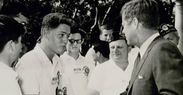 Watch 16-Year-Old Bill Clinton Meeting John F. Kennedy Back In 1963
