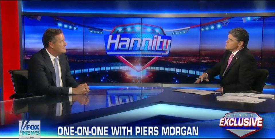 Piers Morgan Schools Sean Hannity On Gun Control (VIDEO)