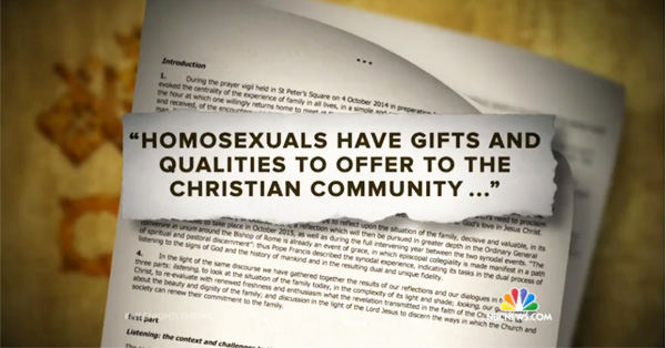 Vatican Proposes Dramatic Shift Towards Gays And Divorce (VIDEO)