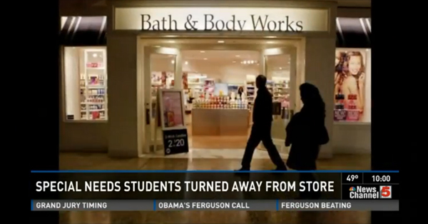 Special Needs Students Refused Entry At Bath And Body Works Store – VIDEO