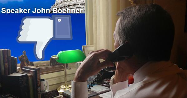 All Hell Breaks Loose On Speaker Boehner's Facebook