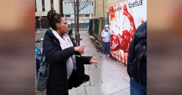 Pregnant Woman Blasts Anti-Choicers Outside Of Abortion Clinic (VIDEO)