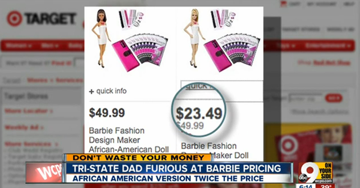 Black Barbie Dolls Priced Higher Than White Versions At Walmart And Target – VIDEO