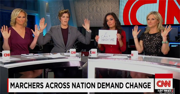 Mother Jones Editor Slams 'Twitchy Mob' For Attacking CNN Hosts Who Assumed 'Hands Up' Pose