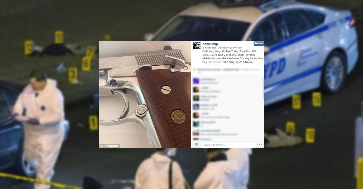 Gun Found Next To NY Cop-Killer Matches Instagram Post