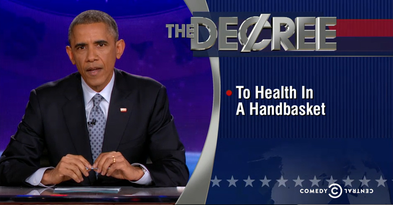 President Obama Takes Over The Colbert Report, Changes 'The Word' To 'The Decree'