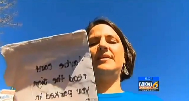 Female Veteran Gets Nasty Note For Parking In Spot Reserved For Veterans (VIDEO)