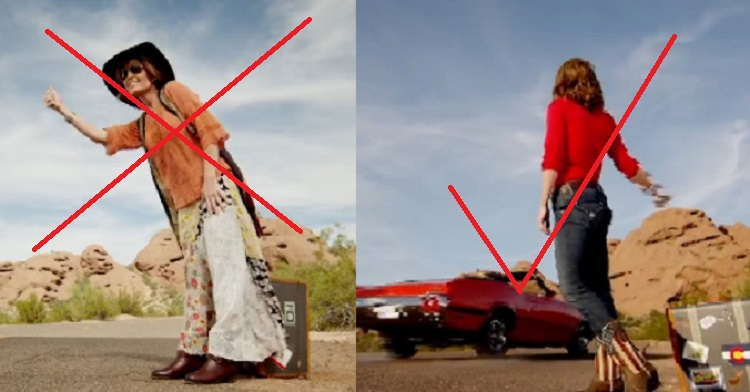 Palin's TV Show Trailer Proves Sexy Clothes Help When Hitchhiking (VIDEO)