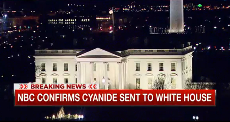 Letter Containing Cyanide Sent To White House – VIDEO