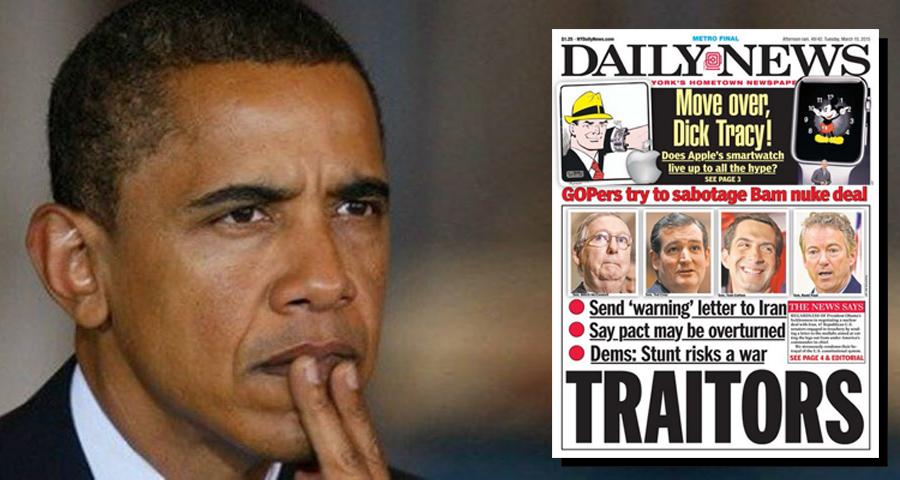 NY Daily News Calls Republican Senators 'Traitors'