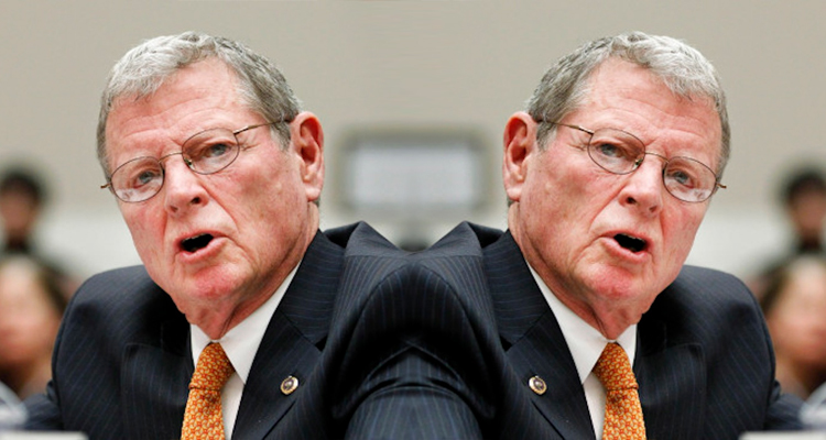 Inhofe vs Inhofe: Republican Senator Strains His Neck Doing A 180 Degree Turnabout