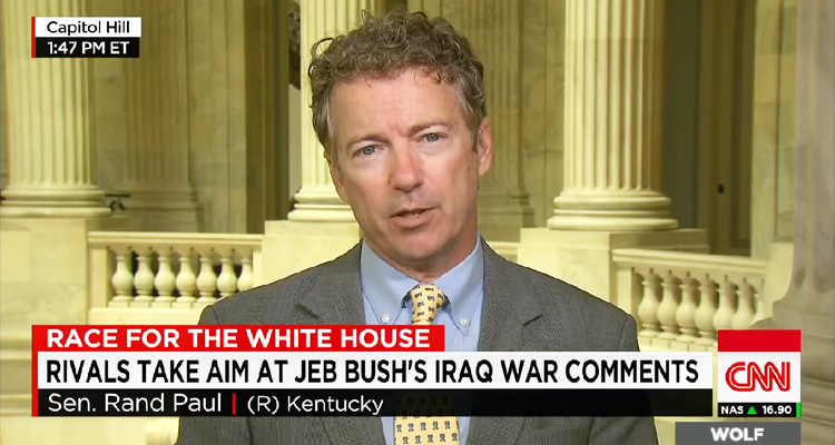 Rand Paul: 'We're A Lot Worse Off With Saddam Hussein Gone' – VIDEO
