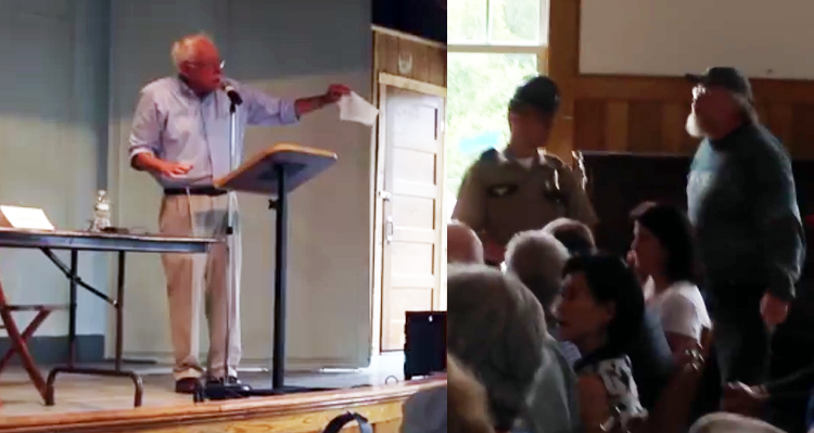 Bernie Sanders Showdown At Town Hall: Tells Hecklers to 'Shut Up!'  – VIDEO