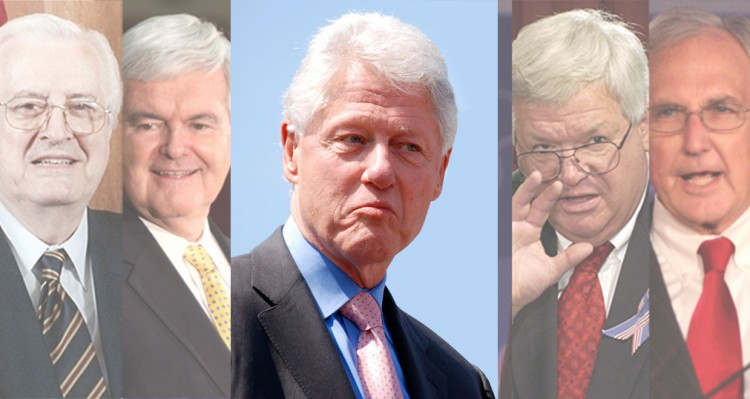 The Republican Hypocrites Who Led The Impeachment Of Bill Clinton