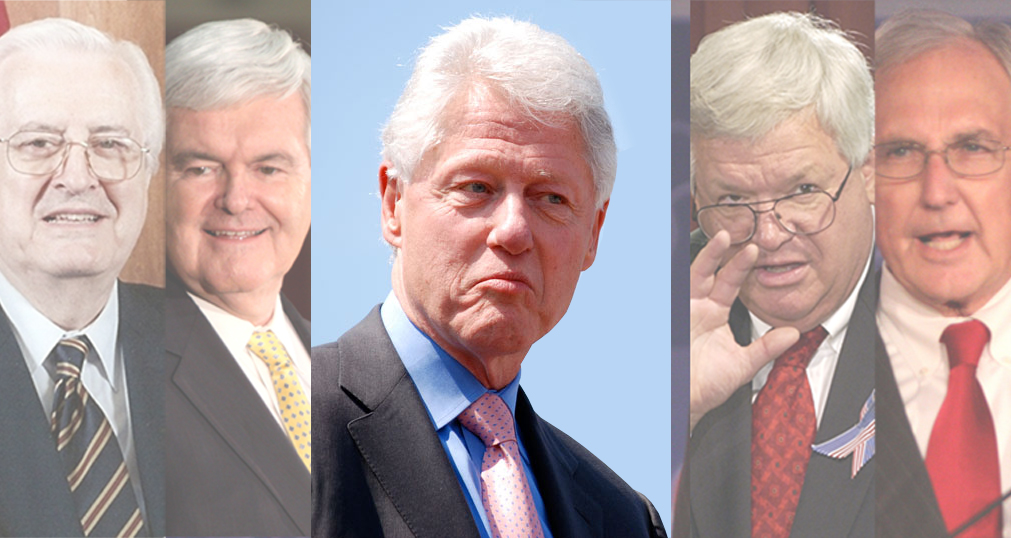 How long did bill clinton serve as president after being impeached?