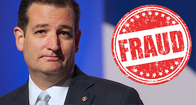 Tea Party Hypocrite Ted Cruz Trashes The Constitution And 'The Rule Of Law'