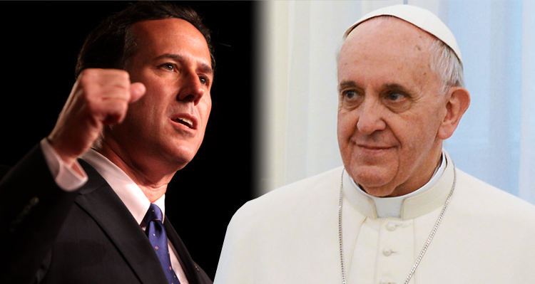 Rick Santorum Blasts The Pope, Tells Him To Leave Science To The Scientists