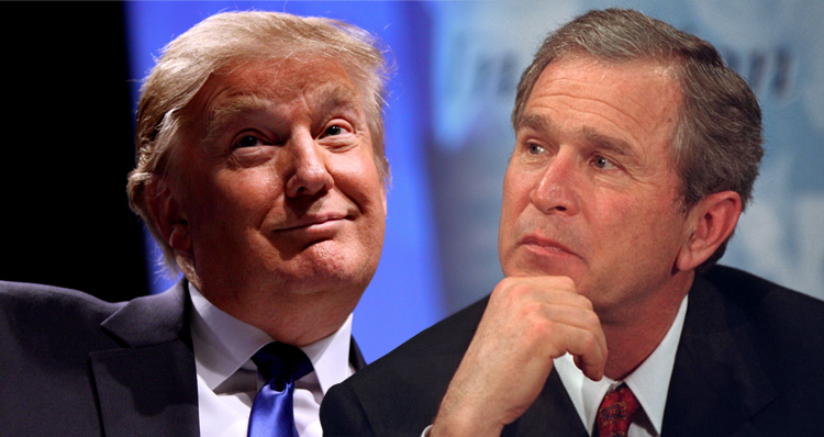 Donald Trump Slams George Bush In A Tweet And Makes Sense For A Change
