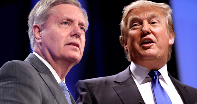 Trump Told Everyone Lindsey Graham's Cell Phone Number During Televised Speech