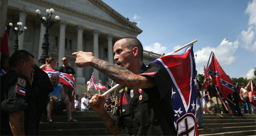 White Supremacists Acting Like Weak Whiny Cowards At Klan Rally – VIDEO