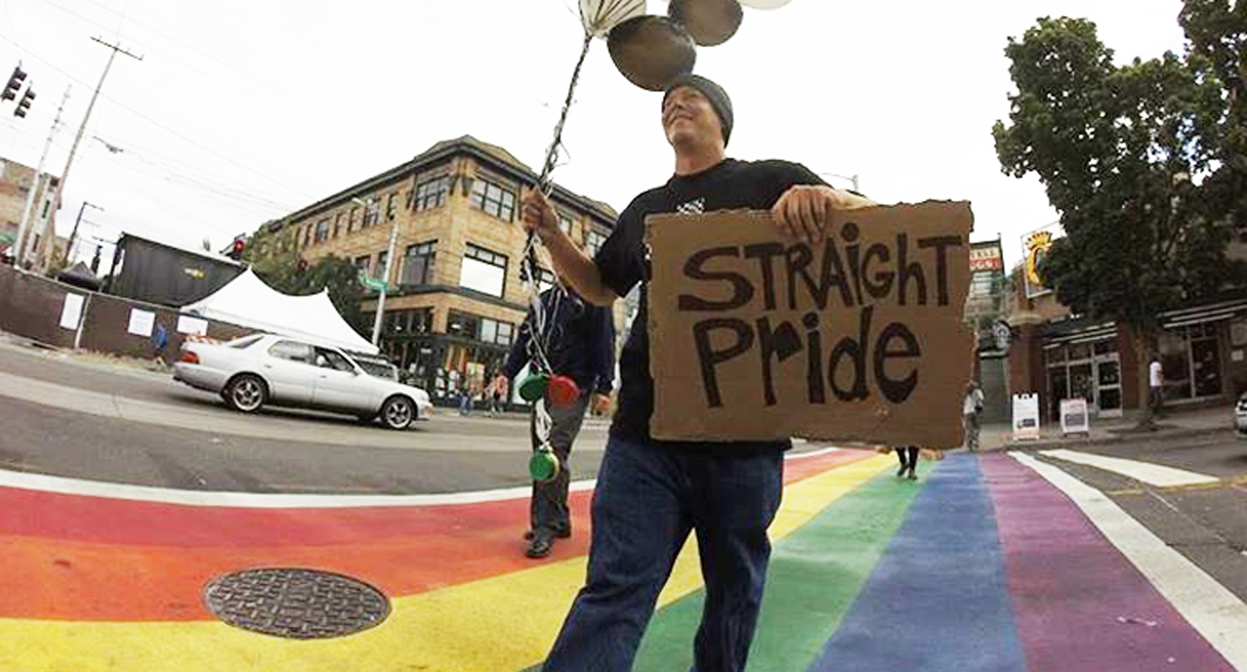Guy Hosts Straight Pride Parade And Blames Gays When No One Shows Up