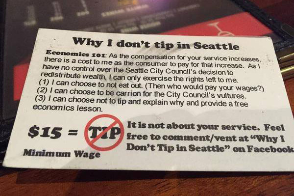 Meet the Idiots of 'Why I don't Tip in Seattle'