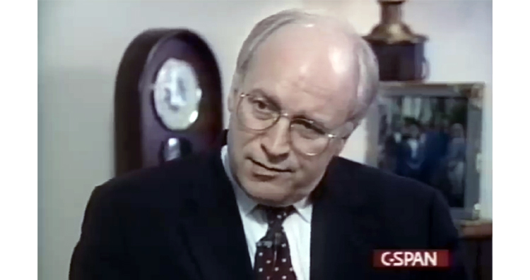 1994 Anti-War Interview Dick Cheney Doesn't Want You To See – VIDEO