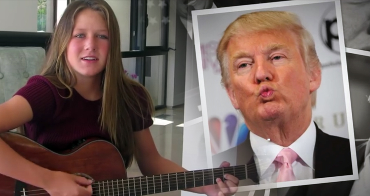 13-Year-Old's Song To Donald Trump Says It All – VIDEO