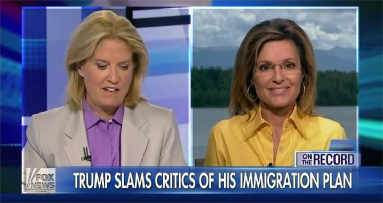 Palin Is All For Trump's $900 Billion Plan To Kick Out Immigrants -VIDEO