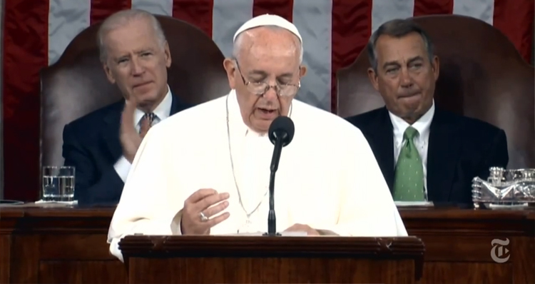 Republicans Fooled, Give Pope Standing Ovation At The Wrong Moment (VIDEO)