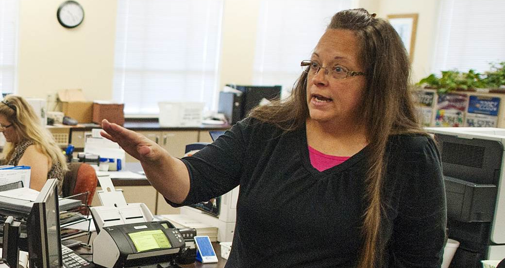 Kentucky Clerk Jailed On Contempt Charges