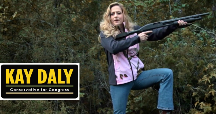 Bizarre Campaign Ad: GOP Challenger Suggests She'll Shoot Moderate Republicans (Video)