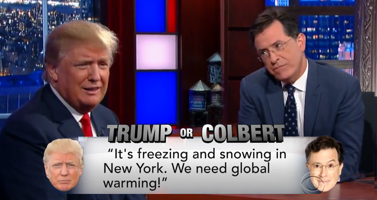 '10 Billion Dollar Mouth' Plays Colbert Or Trump (Video)