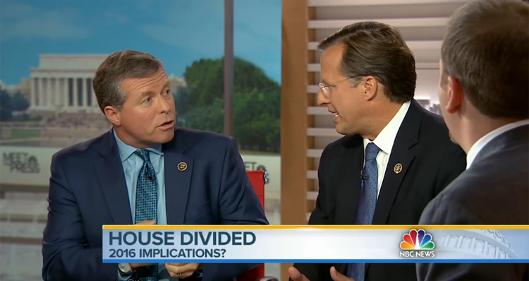 Watch Republican Tensions Explode On 'Meet The Press'