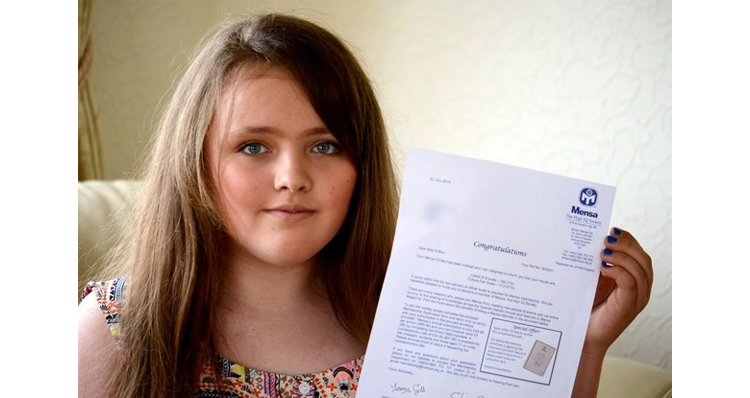 12-Year-Old Girl Has A Higher IQ Than Albert Einstein And Stephen Hawking
