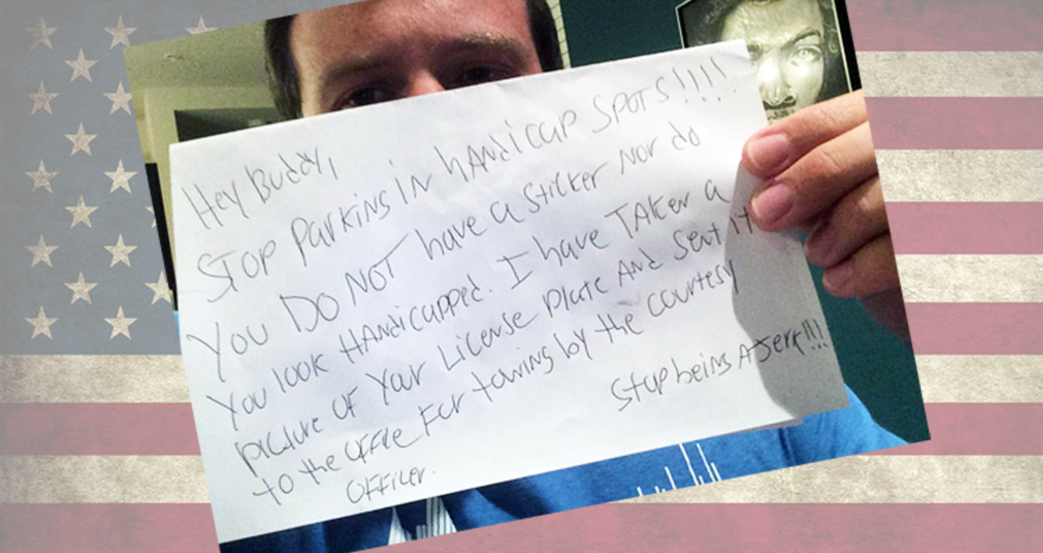 Disabled Army Veteran's Epic Response To Passive-Aggressive Note