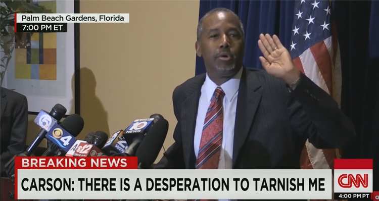 Ben Carson Lashes Out At The Press