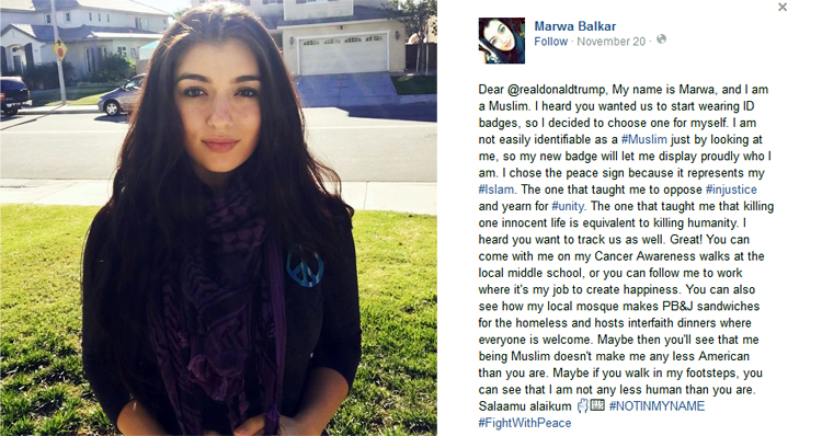 Young Muslim Posts Defiant Letter To Donald Trump