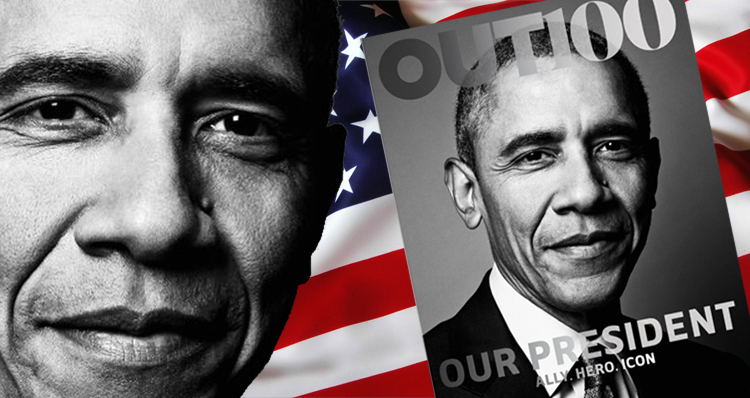 Obama Becomes First President To Pose For LGBT Magazine Cover