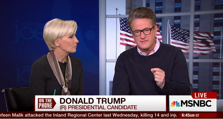 Furious Joe Scarborough Cuts To Commercial Because Trump Won't Shut Up – Video