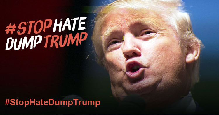 Celebrities And Activists Join 'Stop Hate Dump Trump' Anti-Donald Campaign