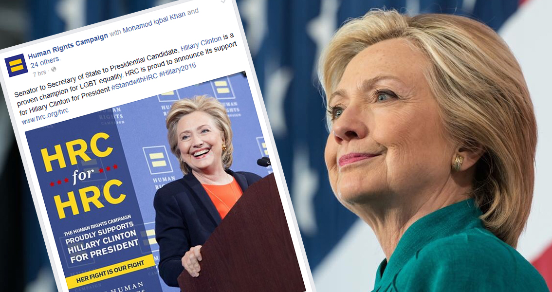 Human Rights Campaign Faces Massive Online Backlash For Clinton Endorsement